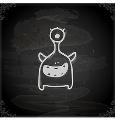 Hand Drawn Alien vector image