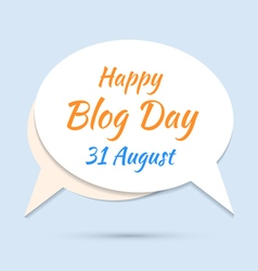 Happy blog day icon on blue background vector image