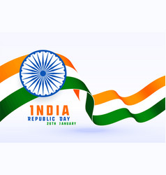 happy republic day india 3d flag design vector image