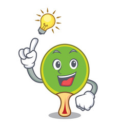 have an idea ping pong racket mascot cartoon vector image