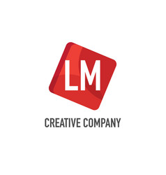initial letter lm logo template design vector image