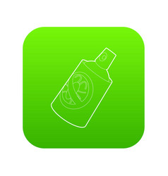 Insecticide spray icon green vector