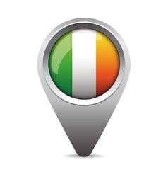 Ireland flag pointer vector image