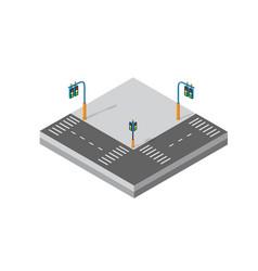 Isometric 3d module block district vector