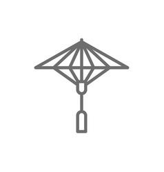 japanese sun umbrella line icon vector image