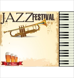 Jazz festival free beer vector image vector image