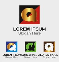 Letter Q logo design sample icon vector