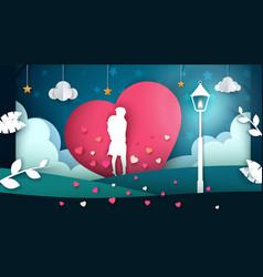 man and woman cartoon cartoon love vector image