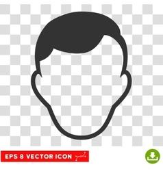 Man Face Template EPS Icon vector