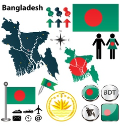 Map of Bangladesh vector image