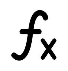 Math function glyph icon vector