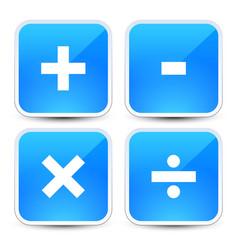Math symbols on blue backgrounds addition vector