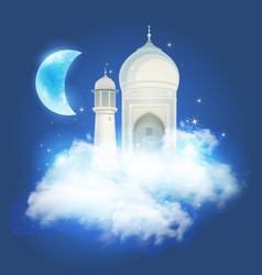 Muslim feast of the holy month of ramadan vector
