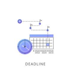 neon deadline line icon vector image