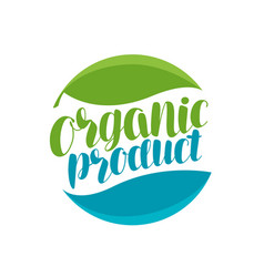 Organic product logo or label natural icon vector