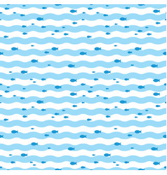 Pattern fish swimming in blue sea fish pattern vector