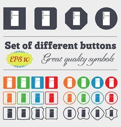 Refrigerator icon sign Big set of colorful diverse vector