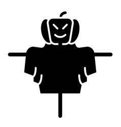 Scarecrow solid icon jackstraw web vector