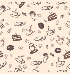 Seamless pattern with coffe vector