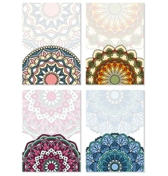 Set of abstract cards vector image