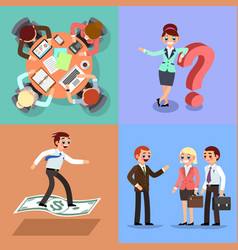 set of business working men and vector image
