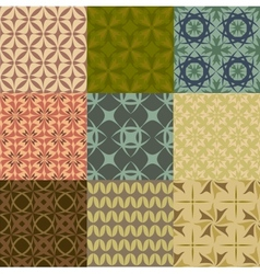 Set of geometric seamless patters vector image