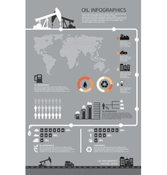 Set of infographics elements Oil icons vector