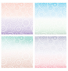 set of seamless pattern with white circles of vector image