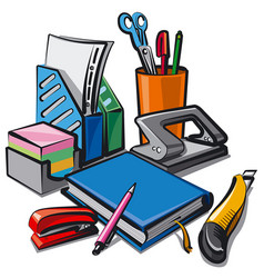 Set stationery for studying vector