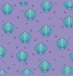 shells background design vector image