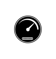 speedometer solid icon navigation and tachometer vector image