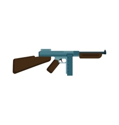 Submachine gun icon color silhouette vector image