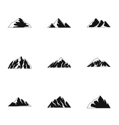 Tableland icons set simple style vector
