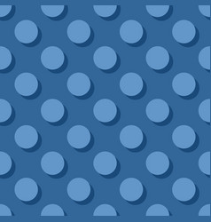 Tile pattern with pastel polka dots on dark blue vector