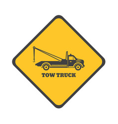 Tow truck sign vector