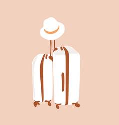 Travel bag boho line vector