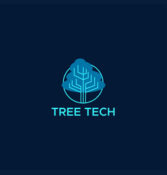 Tree technology logo vector