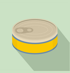 Tuna can icon flat style vector