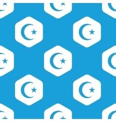 Turkish moon hexagon pattern vector image