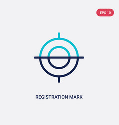 Two color registration mark icon from edit tools vector