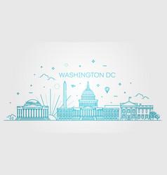 Washington usa skyline and landmarks silhouette vector