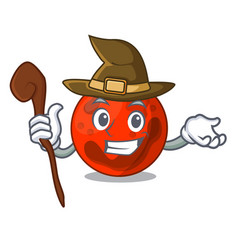 Witch mars planet mascot cartoon vector