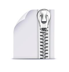 zip file icon vector image