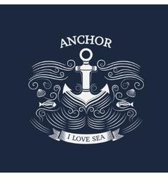 Anchor retro style vector image vector image