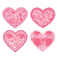 Design elements for wedding or Valentines Day vector image vector image