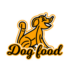 logo on the theme of food for dogs purebred dog vector image