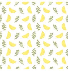 seamless floral pattern lemon fruits background vector image vector image