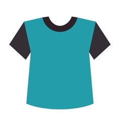 blue t shirt clothes vector image vector image