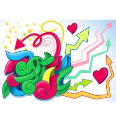 fun graffiti vector image vector image
