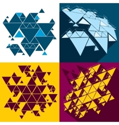 Hipster triangle abstract backgrounds set vector image vector image